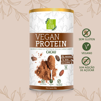 Vegan Protein Cacau (450g) - Eat Clean
