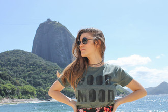 T-Shirt Verde Militar GIRLS SUPPORT GIRLS