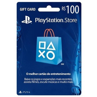 Gift Card Playstation Network (R$100)