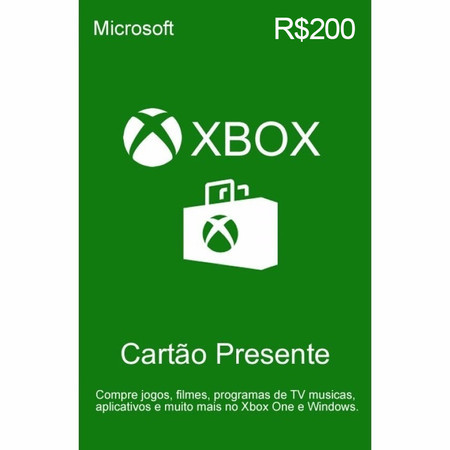Gift Card Microsoft Xbox Store (R$200)