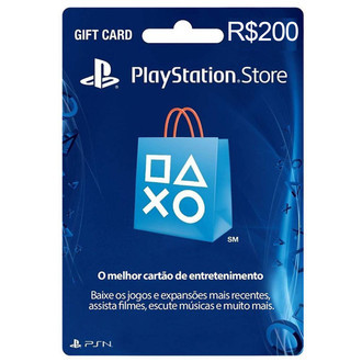 Gift Card Playstation Network (R$200)