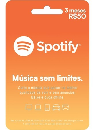 GIFT CARD SPOTIFY - R$50
