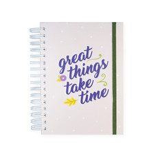 "Planner anual ""great things take time"""