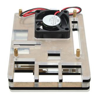 case raspberry pi 3 acrílico com cooler