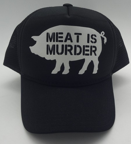 Boné MEAT IS MURDER PRETO