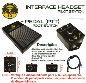 INTERFACE P/HEADSET C/PEDAL