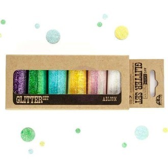 ART EXTRAVAGANCE GLITTER SET - ABLOOM -PRIMA MARKETING- 6 PEÇAS