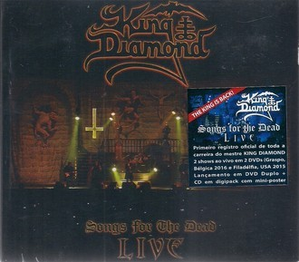 CD KING DIAMOND - SONGS FOR THE DEAD LIVE (2 DVDs+CD) (NOVO/LACRADO)