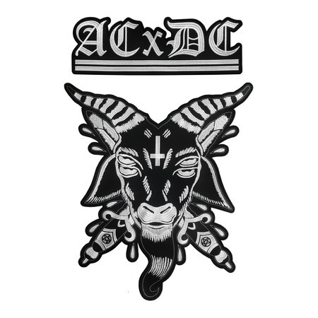 ACXDC Antichrist Demoncore Official Embroidered Back Patch