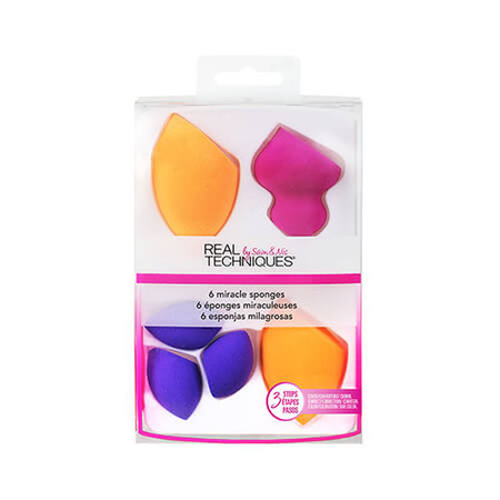 KIT ESPONJAS DE MAQUIAGEM 6 MIRACLE SPONGES REAL TECHNIQUES