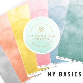 KIT PAPÉIS 12x12 - MY MEMORIES CRAFTS - MY BASICS