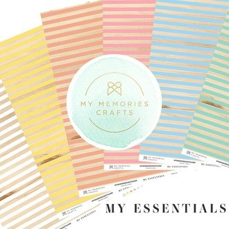 KIT PAPÉIS 12x12 - MY MEMORIES CRAFTS - MY ESSENTIALS