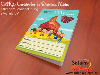 CAR25 Carteirinha do dízimo mirim, Carne do dizimo infantil