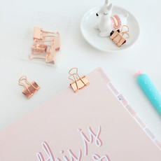 Binder Clips Rosé Gold