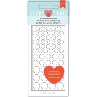 STICKY THUMB - ADHESIVE FOAM DOTS - AMERICAN CRAFTS