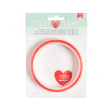 STICKY THUMB - RED TAPE - ADESIVO DUPLA FACE 12mm - AMERICAN CRAFTS