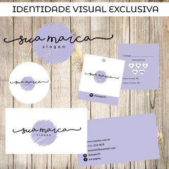 Kit identidade visual Purple