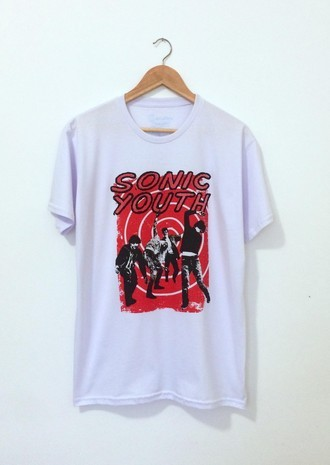 Camiseta SONIC YOUTH (COR BRANCA)