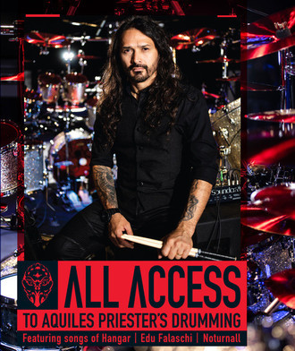 DVD ALL ACCESS - TO AQUILES PRIESTER'S DRUMMING (DVD TRIPLO) (NOVO)