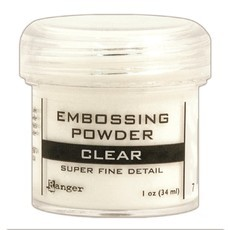 PÓ PARA EMBOSS - EMBOSSING POWDER RANGER - CLEAR -SUPER FINE DETAIL