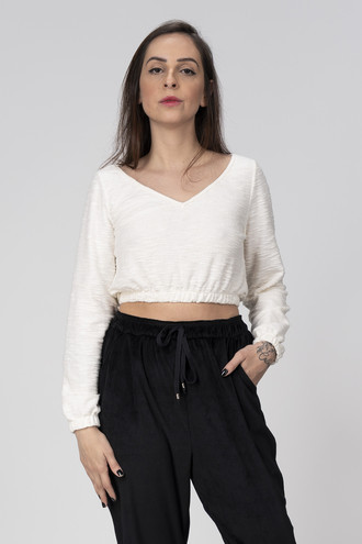 BLUSA CROPPED - TRICOT OFF
