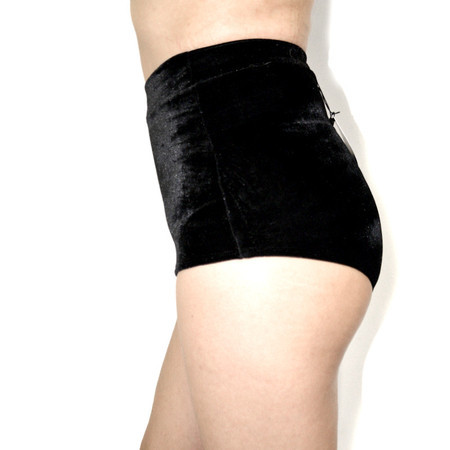 Hotpants Black Velvet