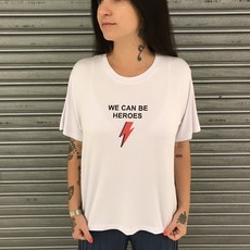 T-Shirt Branca We Can Be Heroes