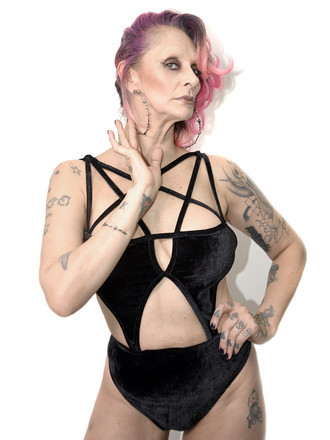 Body Black Velvet Harness