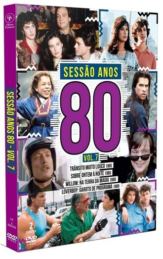 DVD BOX SESSÃO ANOS 80 VOLUME 07 (2019) 02 DVDS NOVO/LACRADO