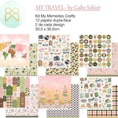 KIT PAPÉIS 12x12 - MY MEMORIES CRAFTS - MY TRAVEL