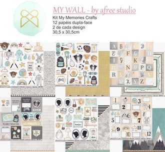 KIT PAPÉIS 12x12 - MY MEMORIES CRAFTS - MY WALL
