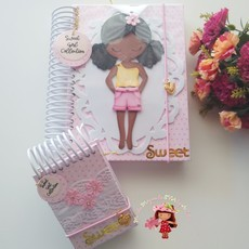 Caderno decorado menininha sweet