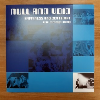 LP NULL AND VOID ‎– HAPPINESS AND CONTEMPT/MONTAGE MORTE (2014) (NM)