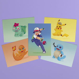 Kit de prints A6 - Pokemon