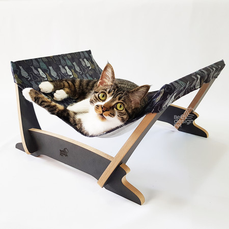Cama De Gato Suspensa Bee Design Pet