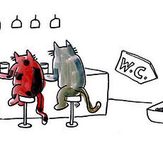 Gatos no Bar PRINT A4