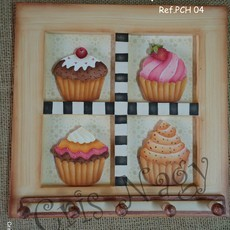 Porta Chaves Cupcakes