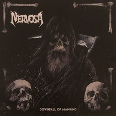 LP NERVOSA - DOWNFALL OF MANKIND (2018) VINIL ROXO (NOVO)