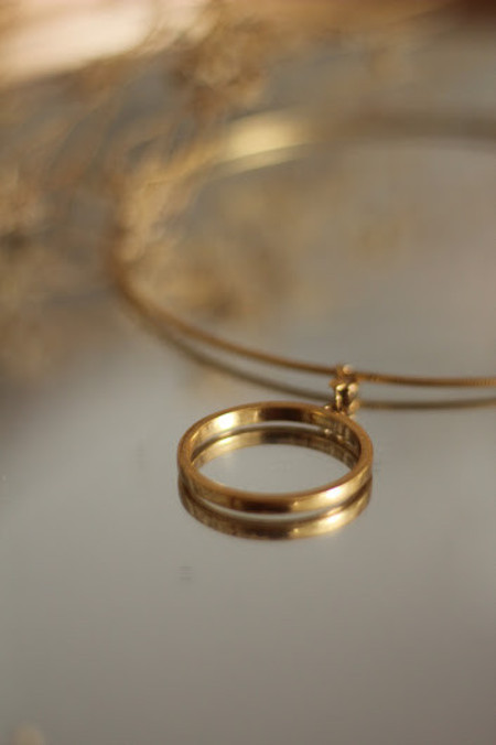 gargantilha circle gold