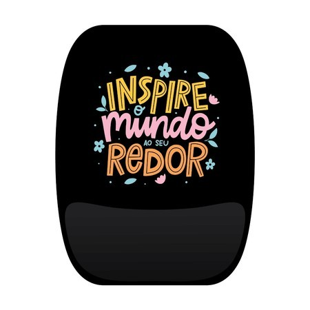 Mouse Pad Frases Colorido