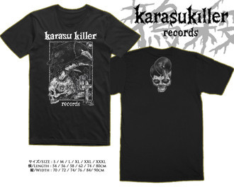 KARASU KILLER RECORDS Official T-Shirt (White Print)