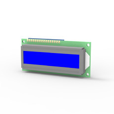 DISPLAY LCD AZUL 16X2 80X36MM FUNDO BRANCO C/ PLACA CONECTORA P/ MZ-5