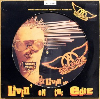 LP Aerosmith - Livin' On The Edge ( Picture / Numerado )