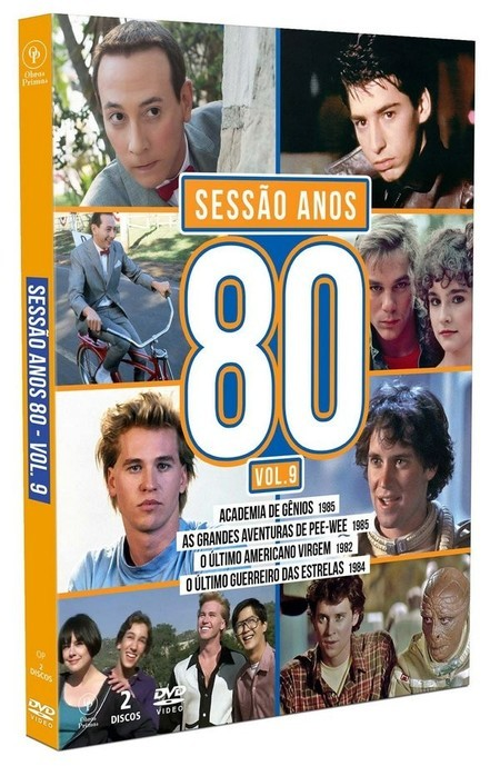 DVD BOX SESSÃO ANOS 80 VOLUME 9 (2020) 02 DVDS NOVO/LACRADO