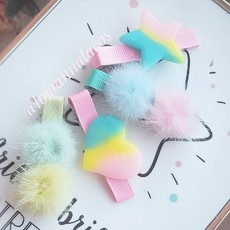 Kit Hair Clips Candy Colors