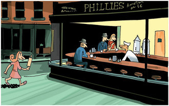 Nighthawks FINE ART A4