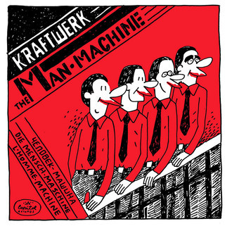 Kraftwerk / The Man-Machine FINE ART A4