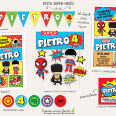 FESTA SUPER-HERÓI - KIT DIGITAL