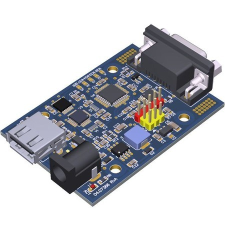 PLACA OEM CONVERSOR USB HOST P/ SERIAL RS-232 DB-9 MACHO PINOUT DTE