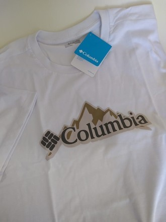 Camiseta Columbia Masculina Badge Tee Branco